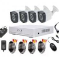 ahd cctv kits 4 bullet outdoor cctv camera 4 channel ahd cctv kits