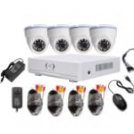 4CH AHD CCTV Camera Kits (4 indoor)