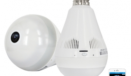 Led bulb wireless CCTV Camera for home