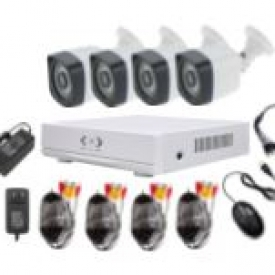 4CH AHD CCTV Camera Kits (4 outdoor)
